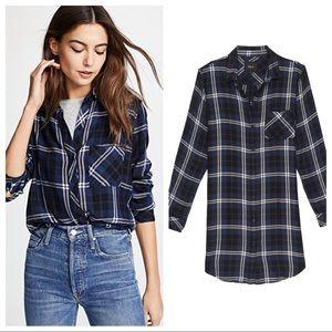 Rails Bianca Flannel Shirt Navy Almond Tinsel XS